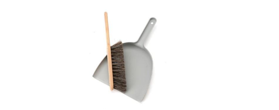 iris hantverk handmade dustpan & brush set