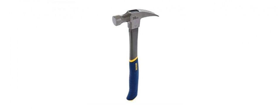 irwin tools 16 ounce fiberglass claw hammer
