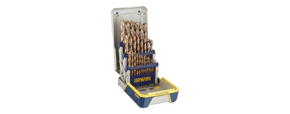 irwin tools 3018002 cobalt m-35 metal index drill bit set