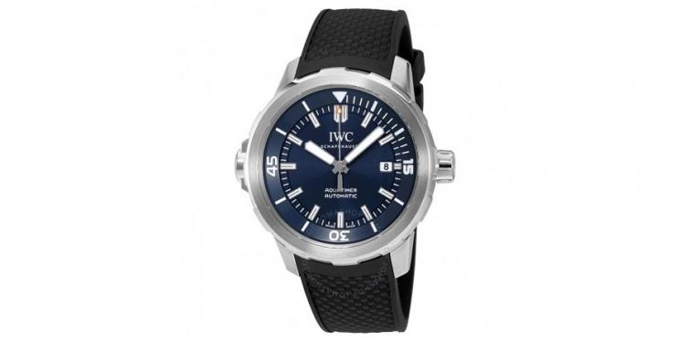 iwc aquatimer automatic blue dial mens watch