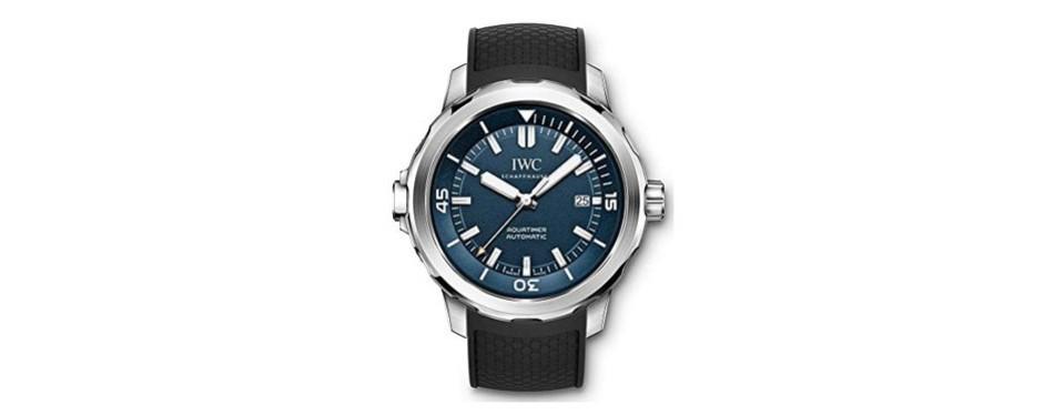 iwc aquatimer automatic blue dial men's watch
