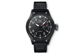 iwc big pilot top gun black dial automatic power reserve watch