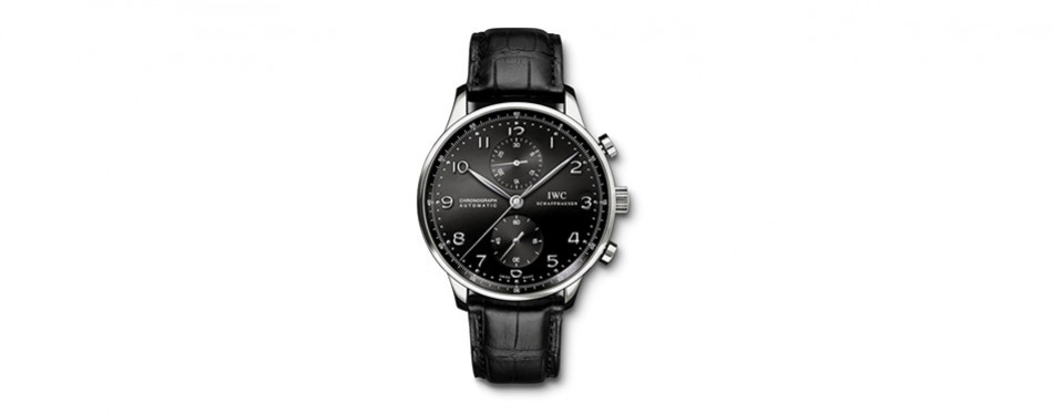iwc men's swiss quartz stainless steel watch