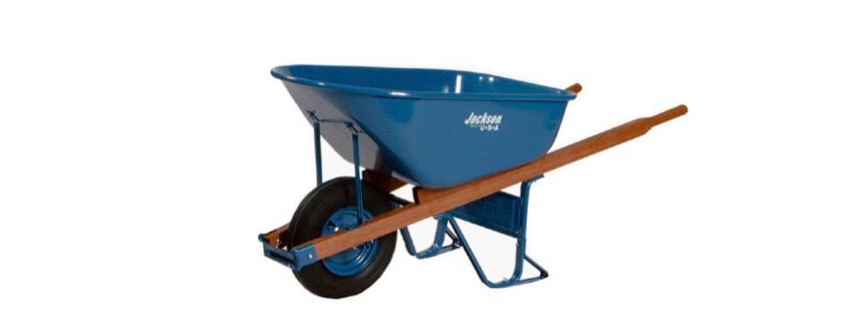 jackson m6t22bb 6-cubic-foot wheelbarrow