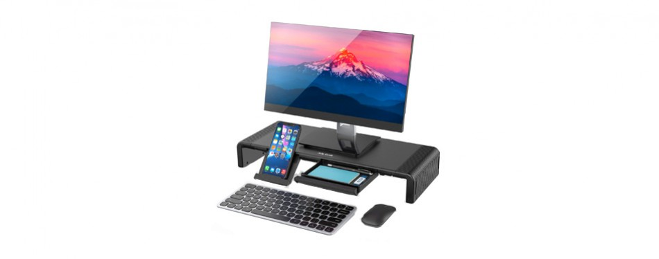 jelly comb monitor stand riser with organizer drawer