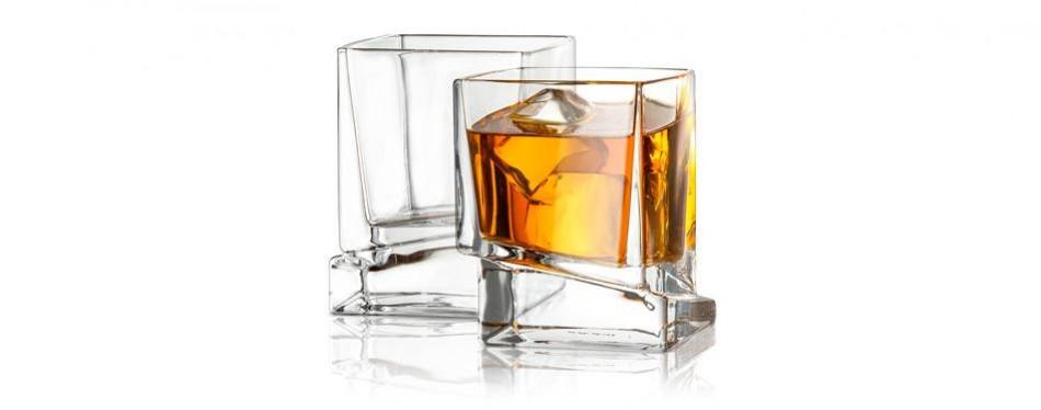 joyjolt carre square whiskey glasses