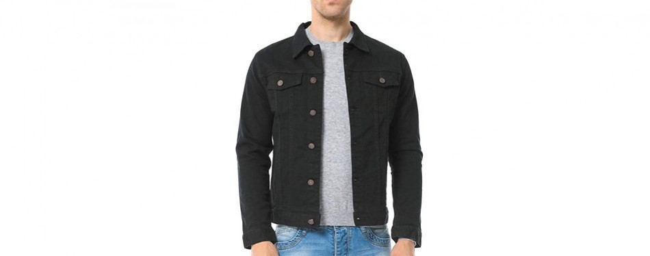 just no logo men's casual denim jacket