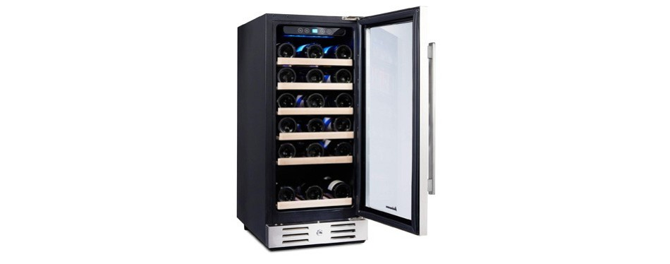 kalamera freestanding stainless steel wine cooler