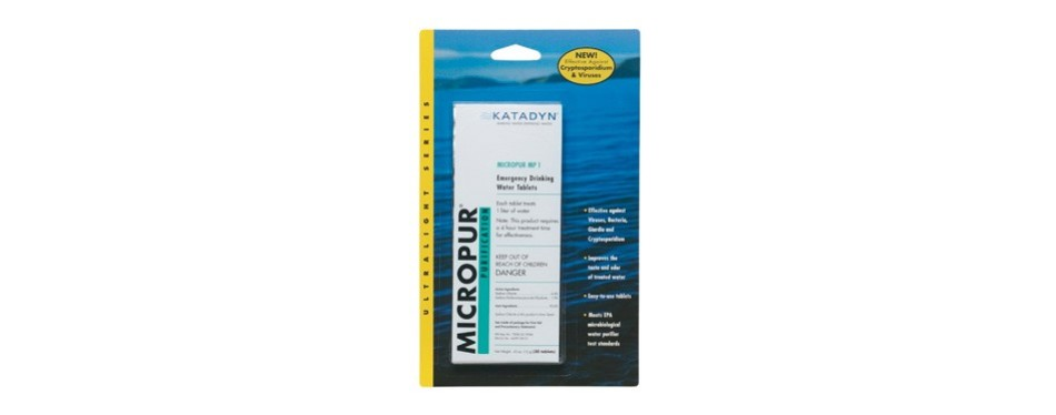katadyn micropur mp1 water purification tablets
