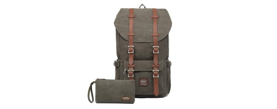 kaukko laptop and outdoor canvas backpack