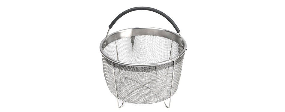 kaviatek the original sturdy stainless-steel steamer basket