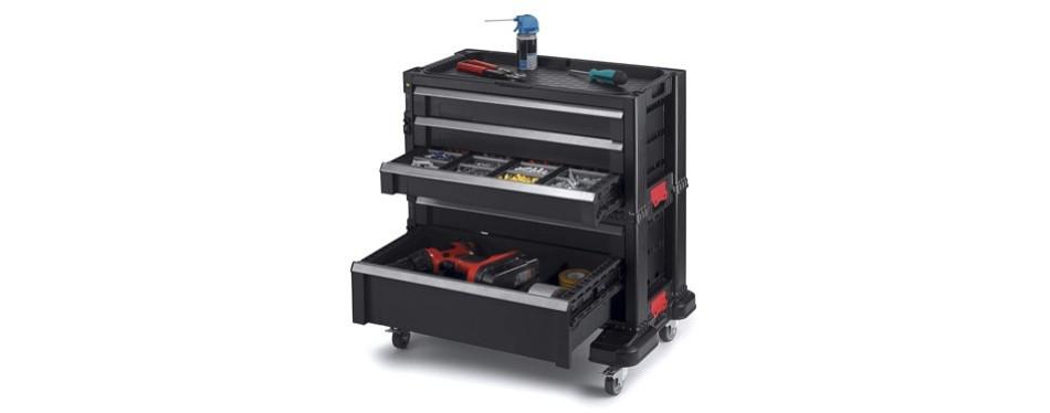 keter 5 drawer modular garage & tool organizer