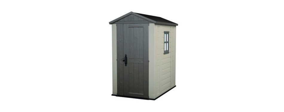 keter factor large 4x6 foot resin outdoor storage shed