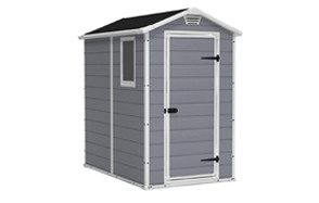 keter manor 4x6 resin outdoor shed kit
