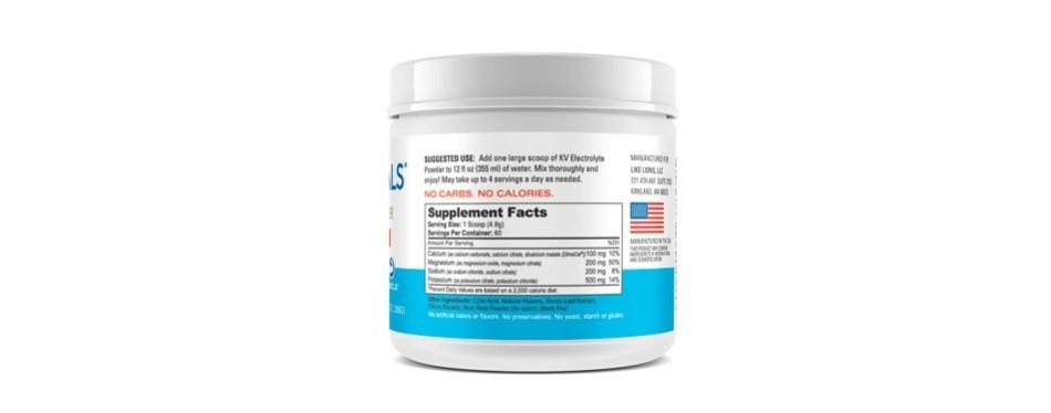 keto vitals electrolyte powder