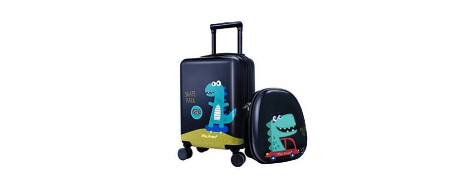 kids dinosaur hard shell travel carry on suitcase