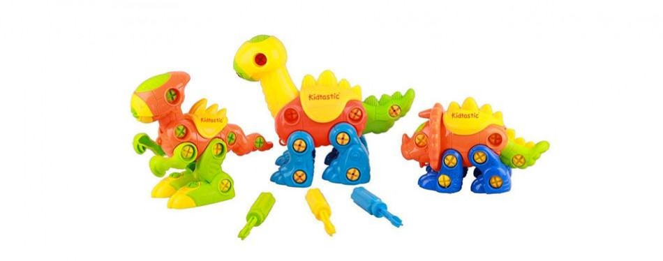 kidtastic dinosaur construct and play set