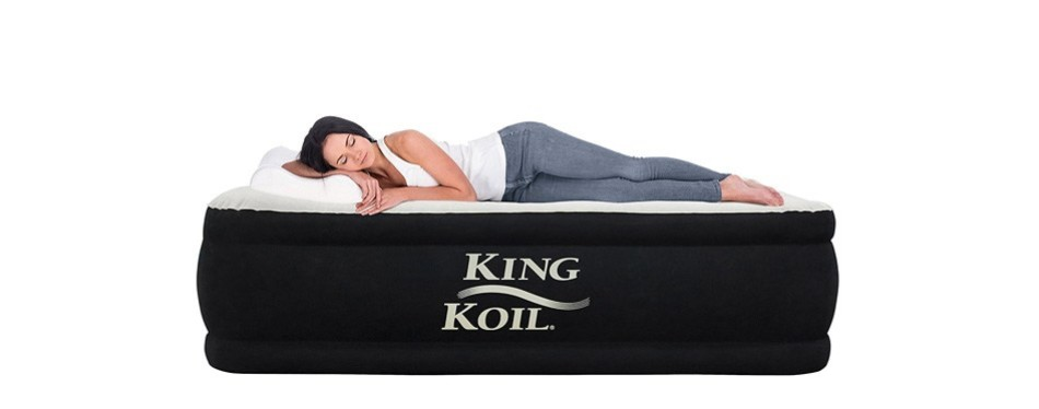 king koil queen size luxury raised air inflatable mattress