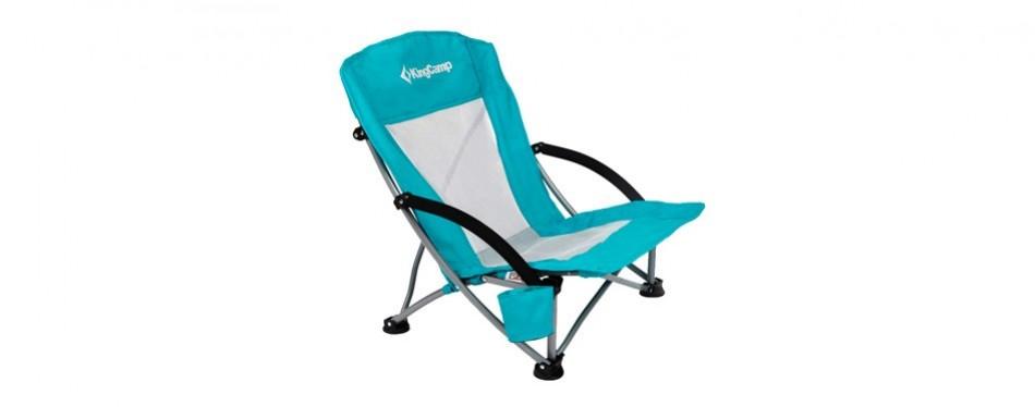 kingcamp low sling folding beach chair