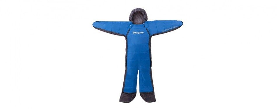 kingcamp standing 3 season full body wearable sleeping bag