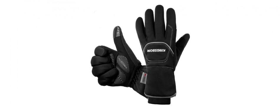 kingsbom waterproof thermal cycling gloves
