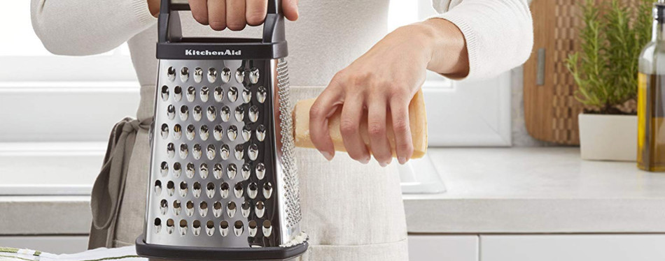 kitchenaid kn300osoba gourmet 4-sided stainless-steel box grater