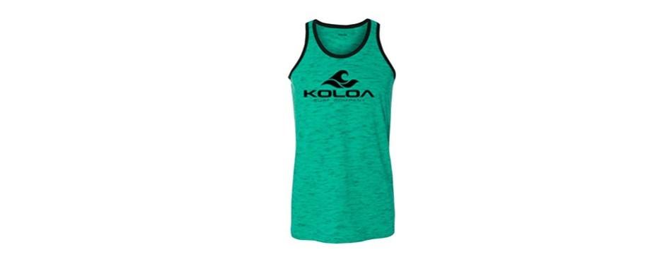 koloa surf men's classic wave heathered ringer tank tops
