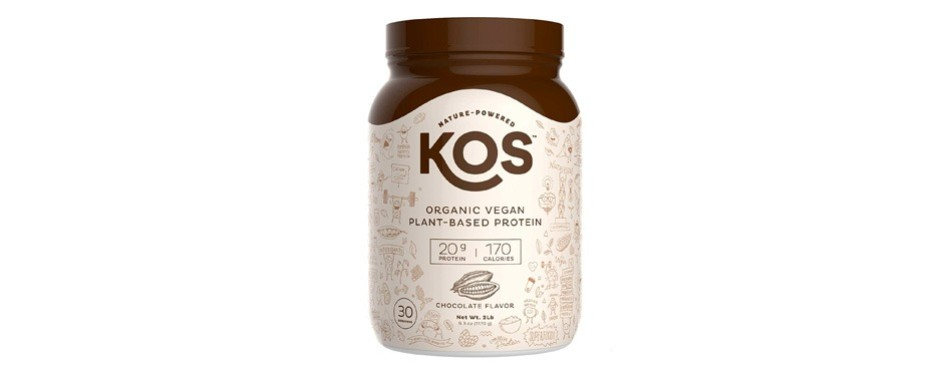 kos organic plant based protein powder raw organic: chocolate
