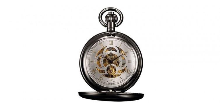 kronen soehne full hunter skeleton dial watch