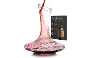 la chateau hand-blown wine decanter