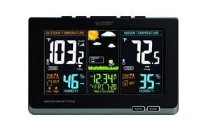 la crosse technology 308-1414b-int 308-1414b wireless atomic digital color forecast station