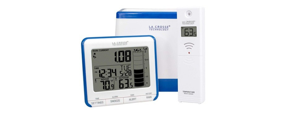 la crosse wireless rain gauge weather station
