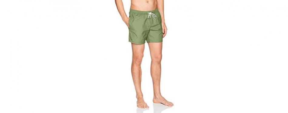 lacoste men's taffeta basic 6 inch swimming trunk