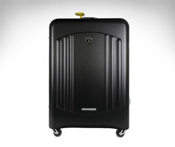 lamborghini carbon fibre bynomio hold suitcase maxi
