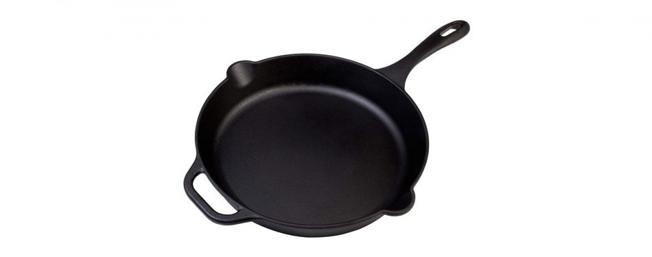 large pre-seasoned cast iron skillet by victoria