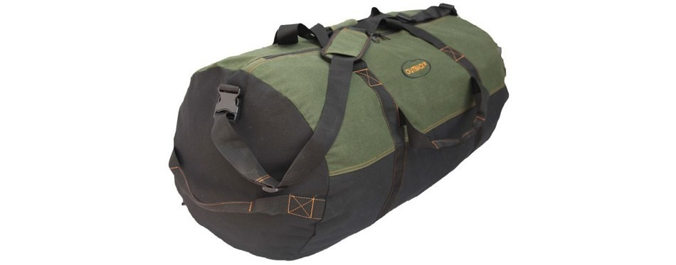 ledmark heavyweight cotton canvas duffel bag