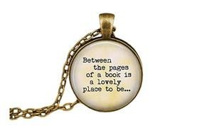 legendary book pendant