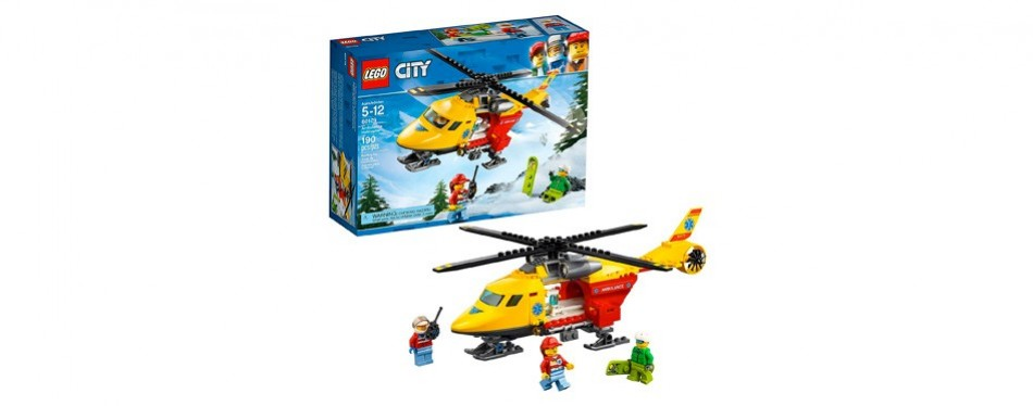 lego city ambulance helicopter building kit