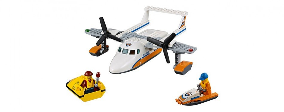 lego city coast guard sea rescue plane