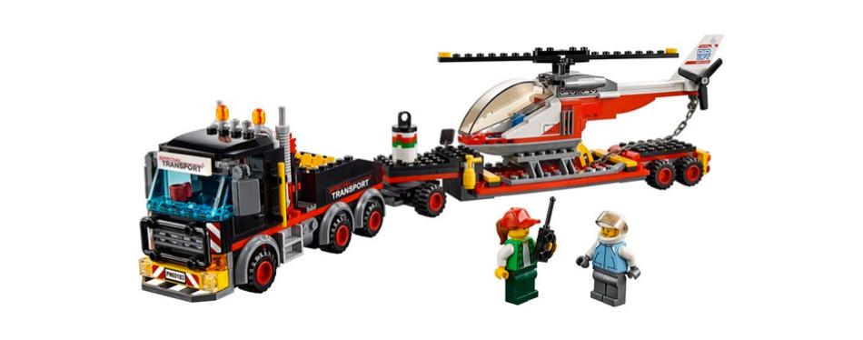 lego city heavy cargo transport building kit