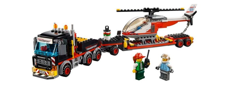 lego city heavy cargo transport building kit