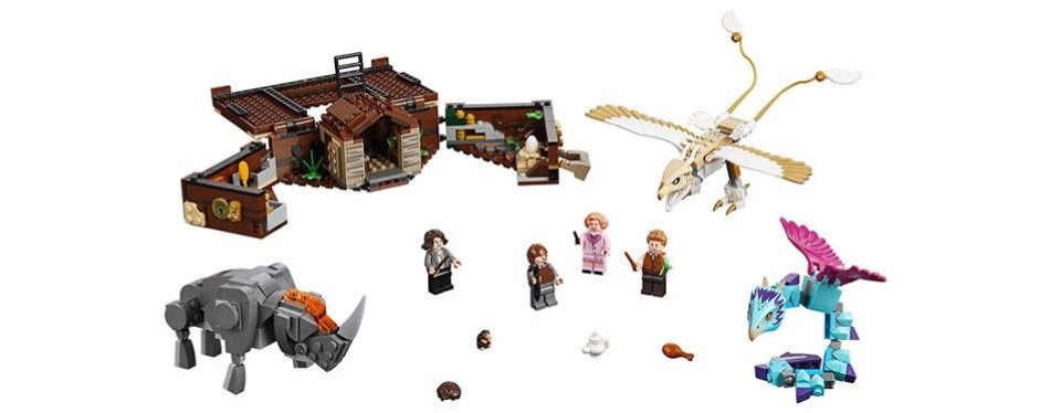lego harry potter fantastic beasts newt's case of magical creatures set