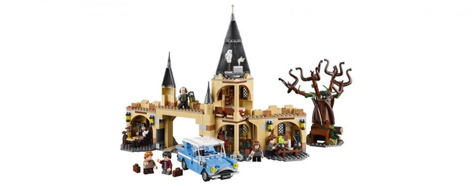 lego harry potter hogwarts whomping willow set