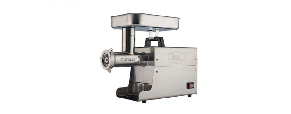 lem products stainless steel big bite meat grinder
