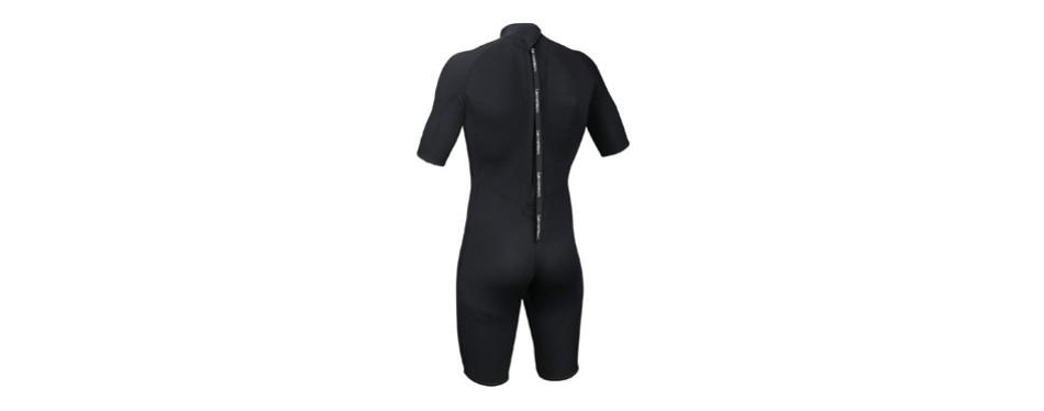 lemorecn wetsuits mens neoprene 3mm shorty diving suit