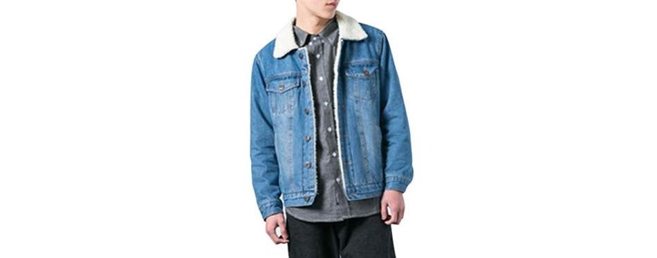 lentta relax fit denim jean jacket coat