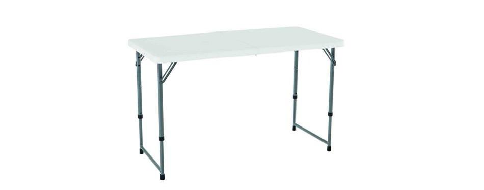 lifetime 4428 height adjustable folding table