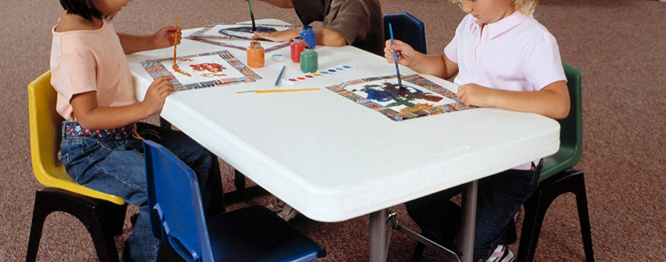 lifetime 80160 height adjustable folding table