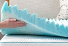 linenspa 3 inch convoluted gel swirl memory foam mattress