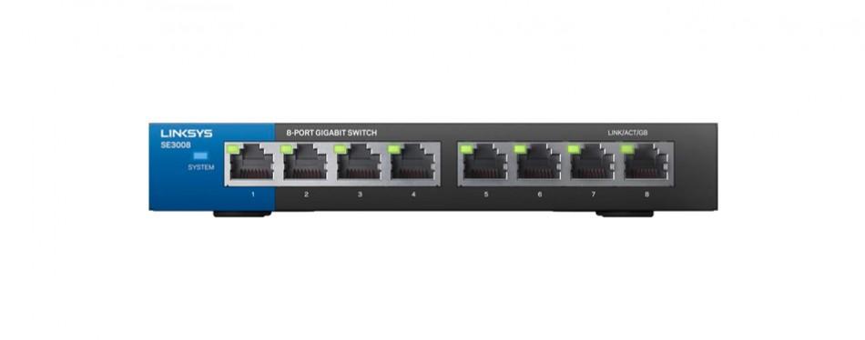linksys 8-port metallic gigabit switch se3008